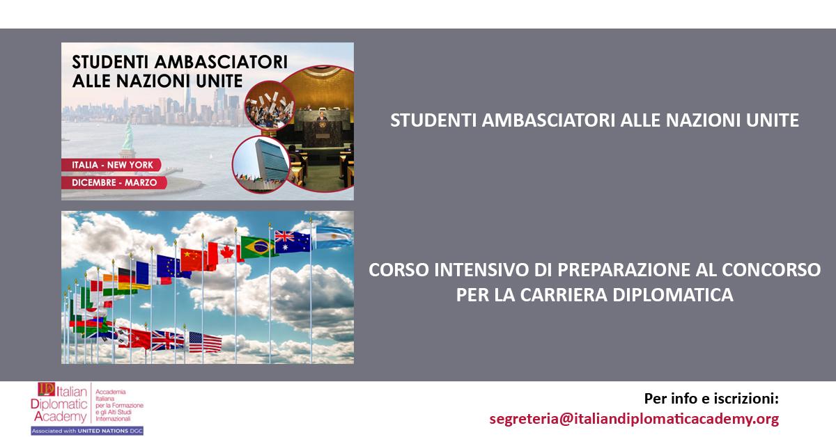 CORSI ITALIAN DIPLOMATIC ACADEMY 2020